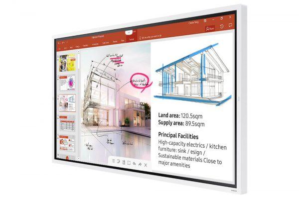 Samsung Flip 2 (WM65R) - 1562650612810 b LH65WMRWBGCXEN 009 R Perspective White