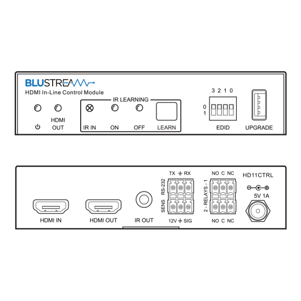 BLUSTEAM HD11CTRL HDMI In-Line Control Module - BLUSTEAM HD11CTRL 02