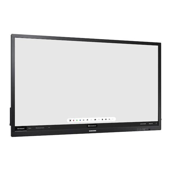 Samsung QB75N-W-Edge-Lit 4K UHD LED Interactive Display for Business - QB65H TR 004 L Perspective Black 20180326