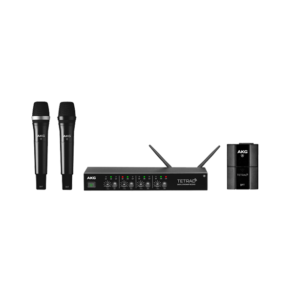 AKG DMSTETRAD PROFESSIONAL FOUR CHANNEL DIGITAL WIRELESS SYSTEM - dmstetrad systemoverview pic