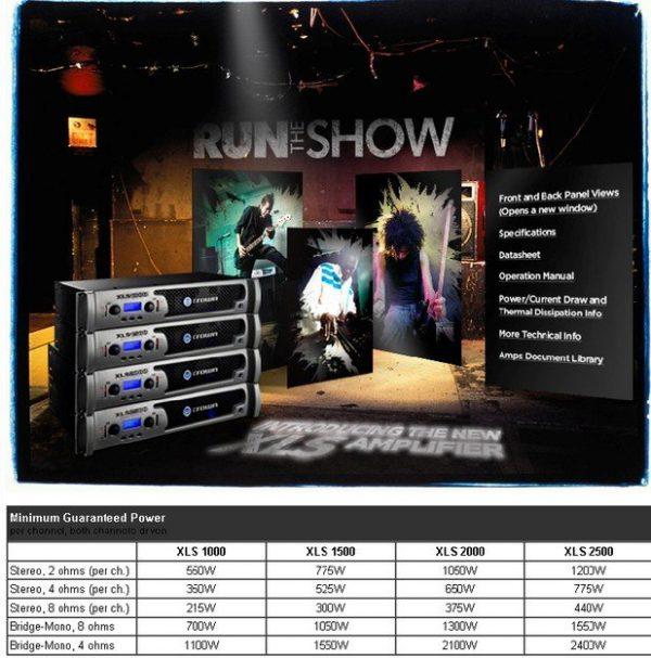 Crown amplifier XLS 2500 - pmi