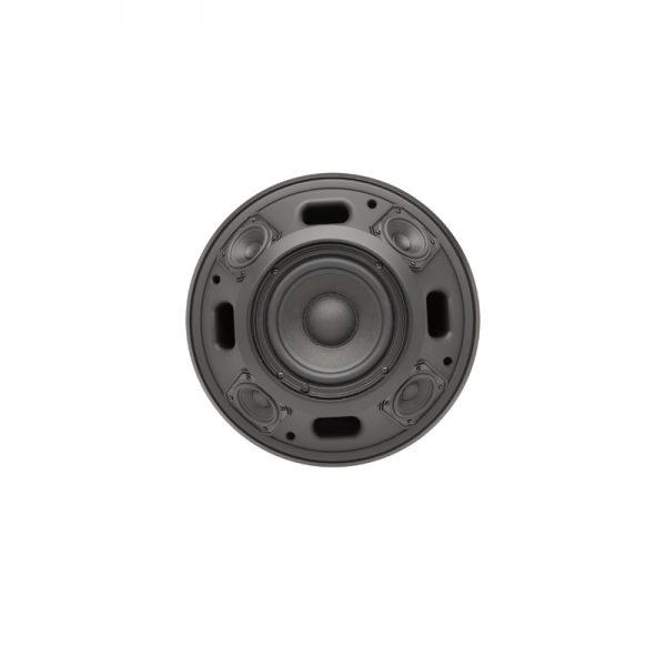 QSC AD-P.HALO Integrated SUB/SAT Pendant Loudspeaker System - q spk adp halo blk nogrille
