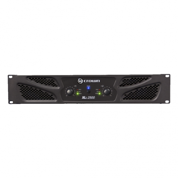 Crown XLi 2500 power amplifier (dual channel, 750W at 4Ω) - square cli2500