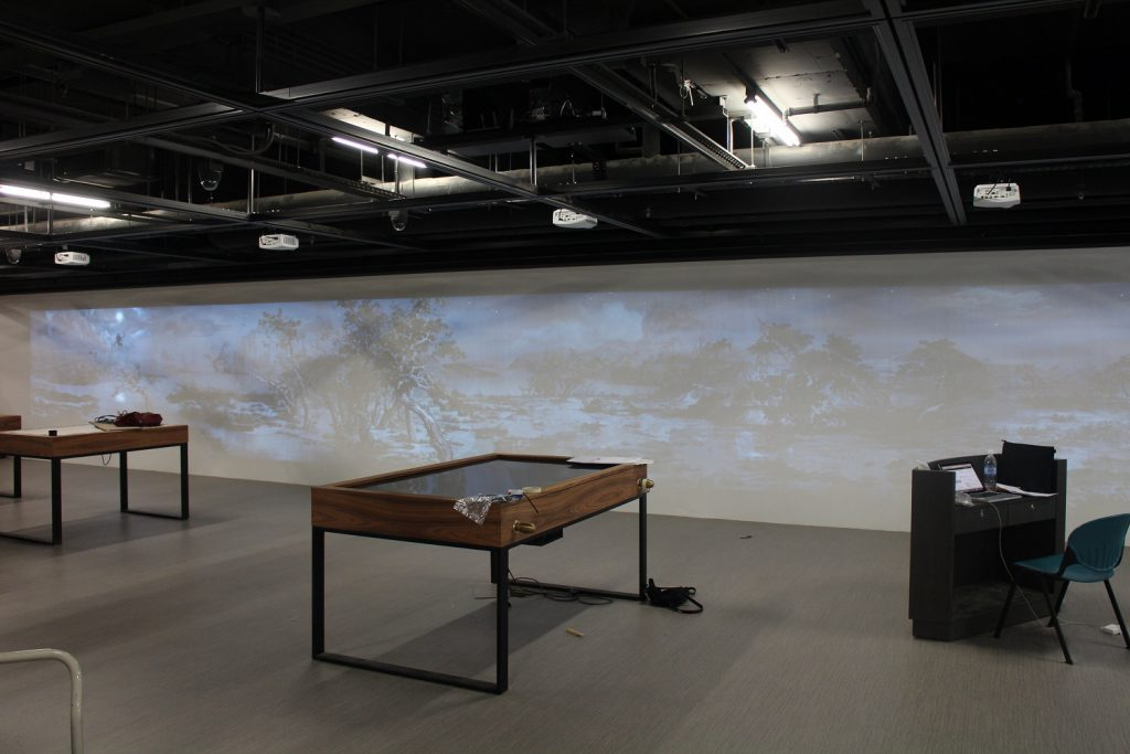 360° projection wall installation - 1